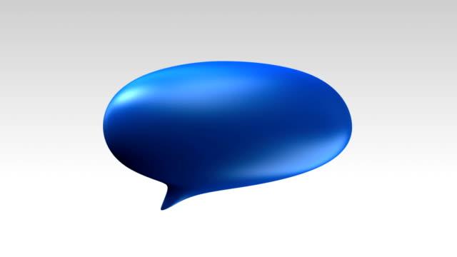 One Speech bubble text bar, 3D balloon style video