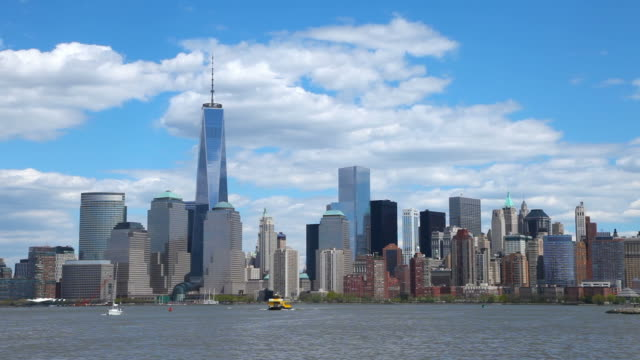 One World Trade Center and the New York City Skyline video