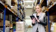 On-line processing orders from warehouse video