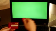 On-line shopping chroma key laptop video