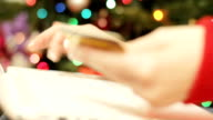 Online shoppping at Christmas video