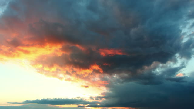Only sky time lapse sunset video