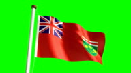 Ontario flag (with green screen) video