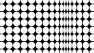 Op Art dots loop. video