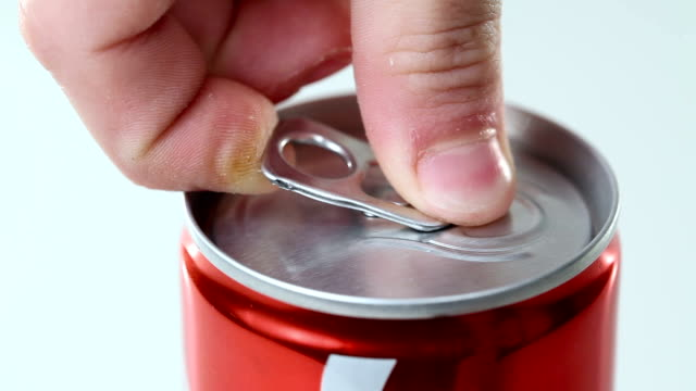 Open a can of fizzy drink video