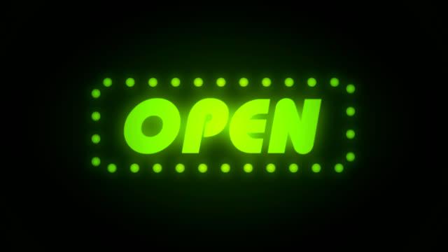 Open animation, loop video