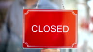 Open - Closed Sign video