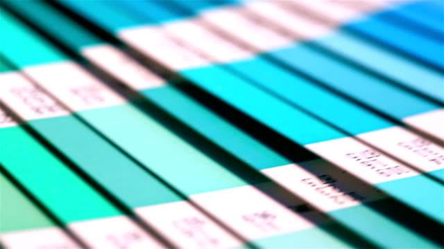 Open Pantone sample colors catalogue. video