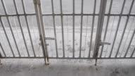Open steel door video