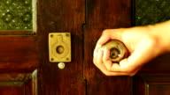 open wooden modern door video