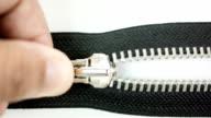 Opened zipper. video