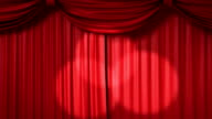 opening and closing red curtain video