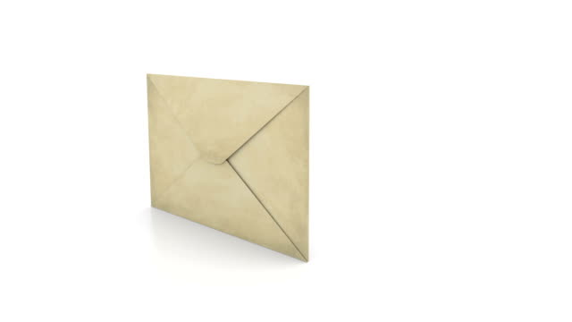Opening envelope - Mail concept video