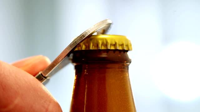 Opening of beer cap video