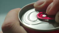 Opening of fizzy drink can video