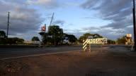 Opening railway crossing, Great Eastern Highway, Western Australia video