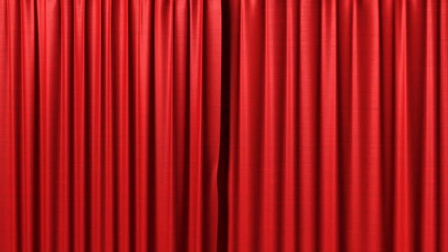 opening red curtain video