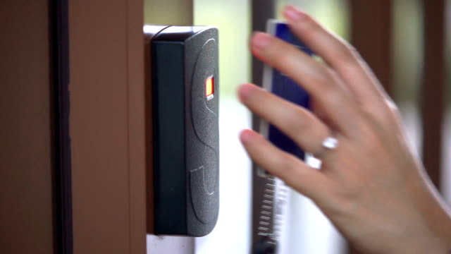 CU Opening Security Door with Access Card video