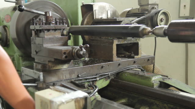 Operating the Industrial Lathe video