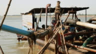 Operation of pumping sand out of a dredging boat video