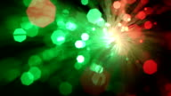 Optical fiber bundle, bright spot. video