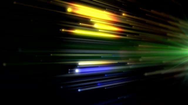 Optical Fibers Background video