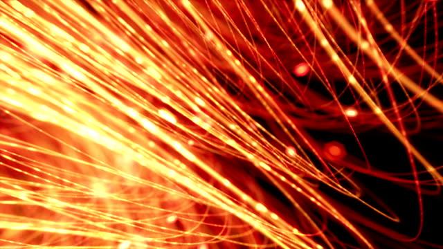 optical fibres background loop video