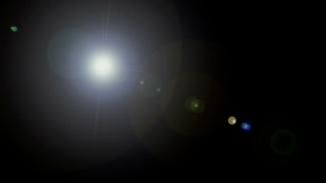 optical flare of the camera video