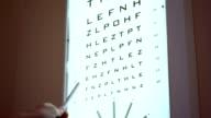 Optician sight exam video