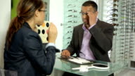 Optician with client video