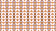 Orange circle pattern video