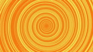 Orange circular  halftoned abstract Loop video