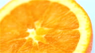 Orange closeup video
