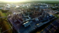 Orange Grove Texas Petrochemical Oil Refinery Creating Dirty Energy Fossil Fuel Industrial Revolution video