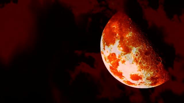 Orange Halloween Moon video
