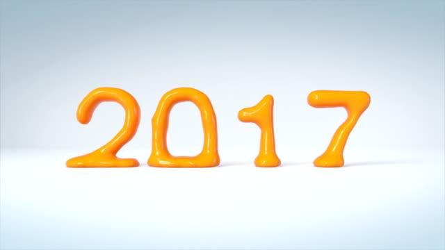 Orange juice transform to new year 2017 video
