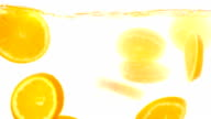 Orange slice falling video