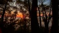 Orange Sunset on Lake Erie - Time Lapse video