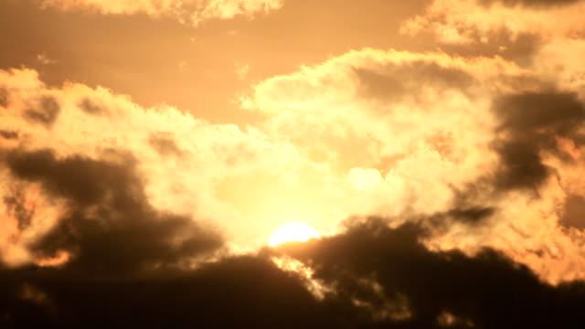 orange sunset video