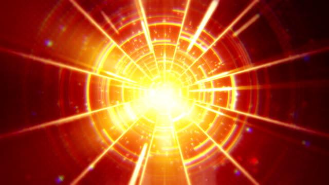 orange techno concentric segments loop video