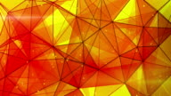 orange triangles web pattern loopable video