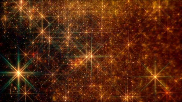 Orange twinkling stars video