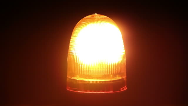 Orange warning light / beacon - Breakdown truck siren flashing video