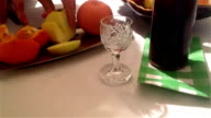 Oranges, apples and cherry liqueur video