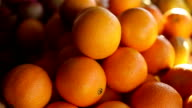 oranges on the market,close up video