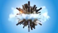 Orbiting Earth Covered By Skyscrapers video
