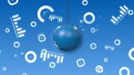 Orbiting Globe With Financial Symbols video