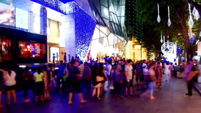 Orchard Road lighted up for Christmas video