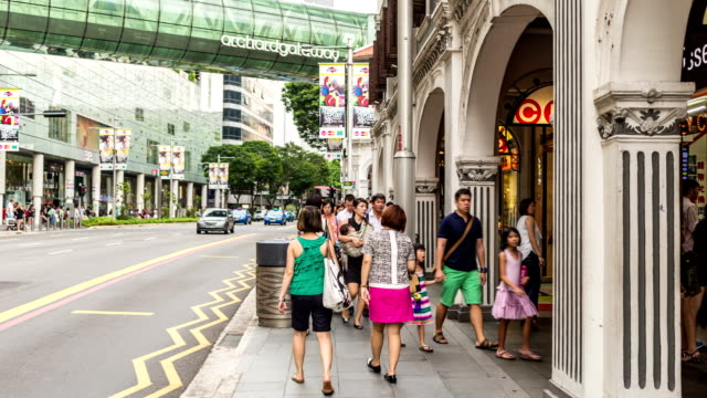 Orchard Road Singapore Timelapse video