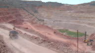 ore mining by open pit video